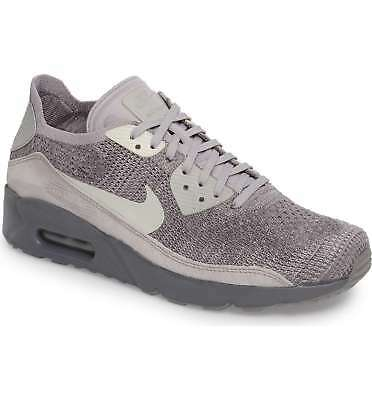 1d34495750b0 Nike Air Max 90 Ultra 2.0 Flyknit 875943 007 Atmosphere Grey Men Size 11