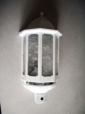 ASD white half lantern with pir + cctv camera in black white and 6m cable