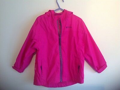 Mountain Warehouse Child Kids Girls Bright Pink Rain Jacket Size Age 5-6 Years