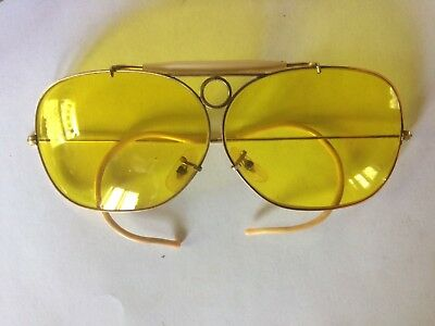 7904234e1630 Bausch   Lomb BL Ray Ban Vintage Yellow Shooter Kalichrome Aviator  Sunglasses