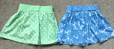 2 Baby Girls Cotton Summer Skirts From Cherokee Age 12-18 Months Ex Cond