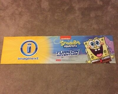 Toys R Us Sign Display Banner Nickelodeon Sponge Bob Square Pants Imaginext