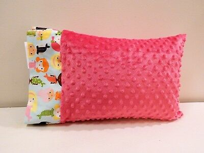 NWT Mermaid Coral Minky Toddler Pillowcase 12x16 Girl Ocean Sea Nautical Beach
