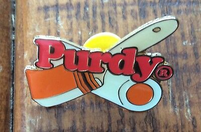 5 Vintage Purdy Paint Brush Roller Advertising Pins New Old Stock Original Bags