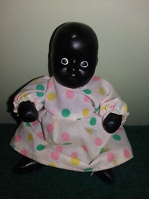 Small Porcelain Black Cupie Doll, Very Nice!!