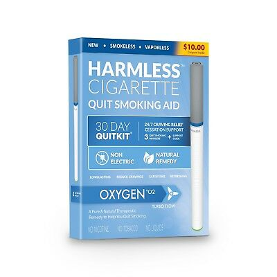 Stop Smoking Aid / Inc. FREE Quit Support Guide / Naturally Effective Quit Kit.