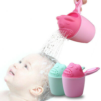 Baby Shampoo Rinser Cup Cute Baby Kids Wash Hair Bathing Flusher Protection Eyes