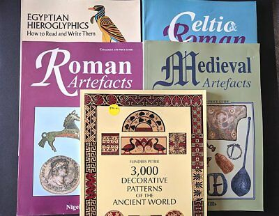 Lot of 5 Ancient Artifact Reference Books