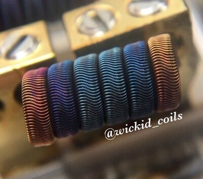 2x N90 Competition wire 8 ply Framed Staple Alien Coils +free coils (Nichrome 90