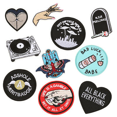 Funny Ass Embroidered Patches Fabric Stickers Jeans Cap Hat Crafts Applique DIY
