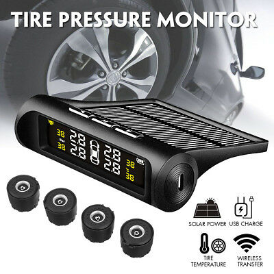 Wireless Solar Car Tire Pressure Monitoring System DIY TPMS with 4 External H0V6
