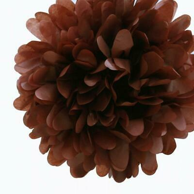 20'' Brown Tissue Paper Pom Poms Flowers Balls, Decorations (4 Pack)