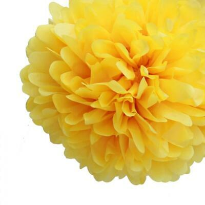 20'' Yellow Tissue Paper Pom Poms Flowers Balls, Decorations (4 Pack)