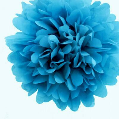 20'' Turquoise Tissue Paper Pom Poms Flowers Balls, Decorations (4 Pack)