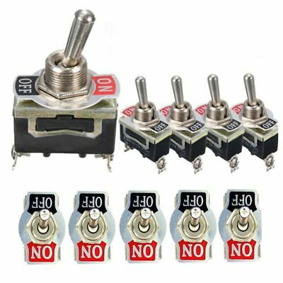 5Pcs SPST 2Pin Car Boat 15A 250V ON/OFF Rocker Toggle Switch + Waterproof Boot C