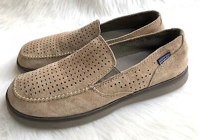 fd8fd15f Men's Patagonia Maui Air Retro Khaki Suede Perforated Slipon Shoes Sz 13