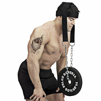 New Dipping Belt Body Building Weight Lifting Dip Chain Head Harness Gym Fitness