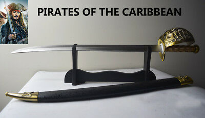 Brand New Sharp Stainless Steel PIRATES OF THE CARIBBEAN Sword Knife Dirk