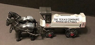 The Texas Company Petroleum Horse Carriage Tanker Texco Oil Bank 1991 #8 Diecast