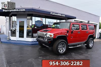 "HUMMER H2 H2 Hummer AWD 2004 HUMMER H2 AWD V8 Loaded Custom FL SUV Strut Package 22"" Wheels Bose Leather"