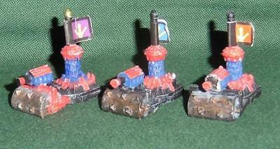 Rare OOP Citadel GW Man O' War Painted Chaos Dwarf Thunder Rollers x3
