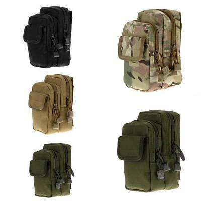 Outdoor Tactical Military Nylon EDC Molle Waist Bag Sundries Pouch Fanny Pack AU