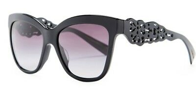 533a20503db2 NWT  390 Dolce   Gabbana Cat Eye Sunglasses BLACK Gray 55 16 140 DG 4264 501