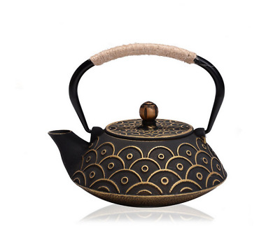 Japanese tetsubin Cast Iron Teapot Gold Fish scales Kettle 800ml 27 Ounce