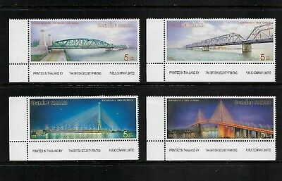 2004 BRIDGES, Thailand, mint set of 4 with tabs, MNH MUH