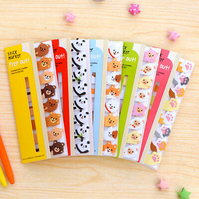 Cartoon Animals Memo Pad Sticky Notes Memo Notebook Stationery Paper Stickers