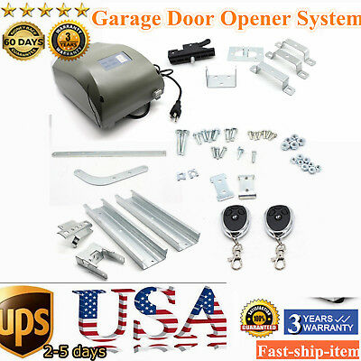 800N Garage Door Opener System Remote Control AC Motor Chain Drive with Rail