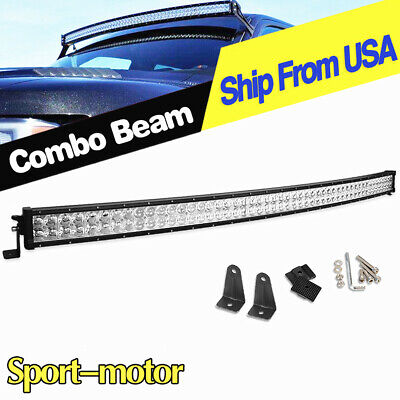 Curved Led Light Bar 52'' inch 700W Flood Spot Driving 54 for Ford 4X4WD Offroad