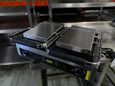 Ex Display Buffalo GJ456 Double Flat Plate Contact Grill £200 + Vat
