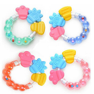 1pc Toddler Molar Toothbrush Teethers Silicone Infant Training Tooth Bell Toys