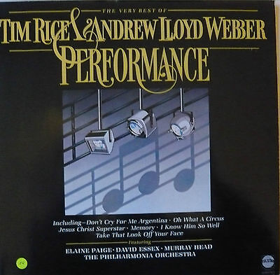 """""""Tim Rice and Andrew Lloyd Webber"""" ,LP the very best of, 16 classic songs"""