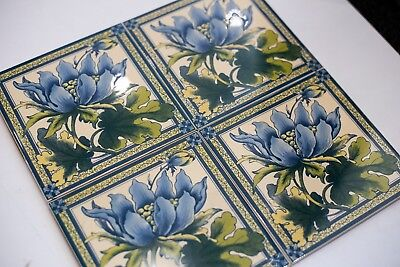 Reproduction Victorian Fireplace Tile Set (0013) ***RRP***£48 (Set of 4)