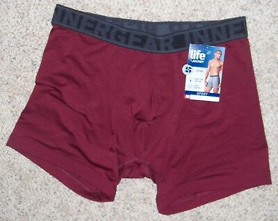 1fe11d658fa3 Men's Life By Jockey Boxer Brief Sport Performance Maroon X-Large 40-42 Save