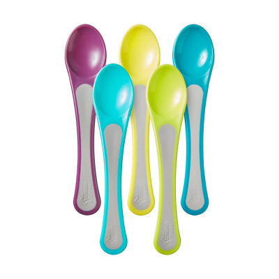 Tommee Tippee Explora Baby Training Feeding Spoons, Assorted color - (4 Spoons)