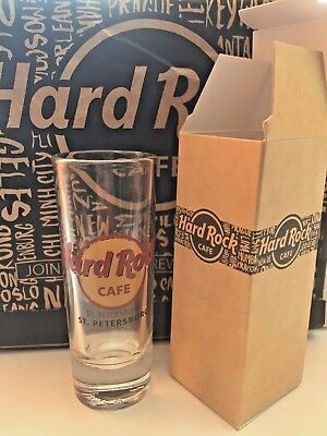 Hard Rock Cafe St. Petersburg Russia City Logo Shot Glass NEW 2018