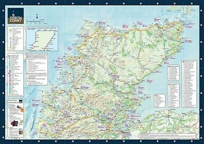 NC500 -2018 North Coast 500 Official Route Map A2 +FREEBIES- 3 IN 1 MAP Scotland