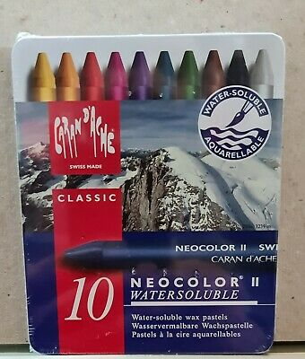 Caran D'Ache Neocolor ll Tin of 10 Water- soluble Artist Colour Pastels