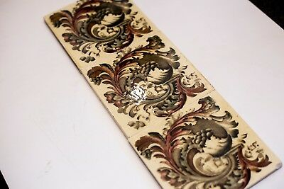 Original Victorian Fireplace Tile Set (0015) See description.