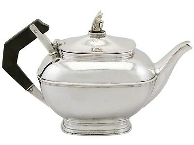 Antique George V Sterling Silver Teapot by Omar Ramsden London 1925