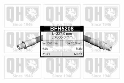 Genuine Qh Brake Hose Rear Axle Left And Right Ford Escort 1.6 16V 1.8 Td