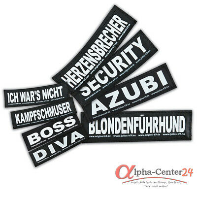 Julius K-9® Klettsticker L Hundegeschirr Powergeschirr 16x5cm Sticker Geschirr