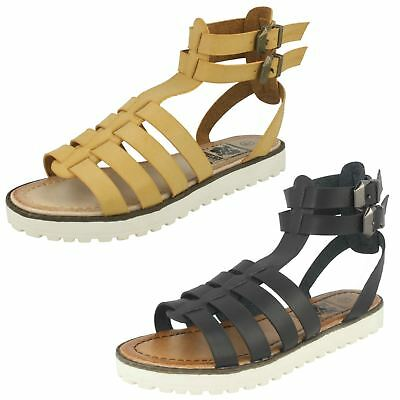 Ladies Down To Earth Flat Gladiator 'Sandals'