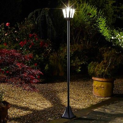 Solar Whitehall Lamp Post - coach light, LED, super bright, garden, post light,
