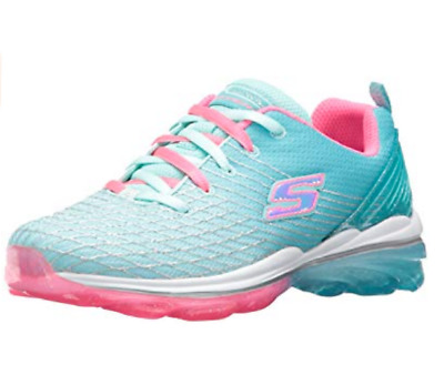 1277265f5b7b NEW Skechers Girls Skech-Air Deluxe Athletic Shoes Youth Sz 3 Med. Aqua