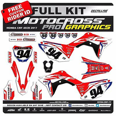 HONDA CRF 450 2017 2018 ROCZEN Graphics Decals Stickers Decallab