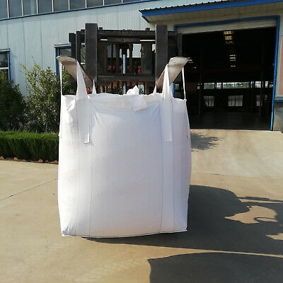 Heavy Duty FIBC Bulk Super Ton Bag 2200LBS 35x35x43 Duffle Top Flat Bottom Sacks